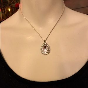 Jewelry - Cubic Zirconia Pave Crystal Pear Shaped Pendant